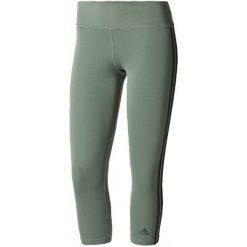 Adidas Legginsy d2m 3S3/4tigh Trace Green /Black M. Czarne legginsy damskie do fitnessu Adidas, m, w paski, z dzianiny, climalite (adidas). W wyprzedaży za 109,00 zł.