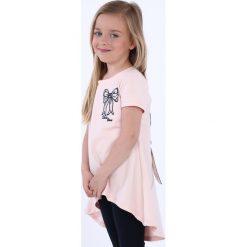 Tunika dziewczęca z kokardą jasnoróżowa NDZ8232. Szare sukienki dziewczęce marki Fasardi. Za 39,00 zł.