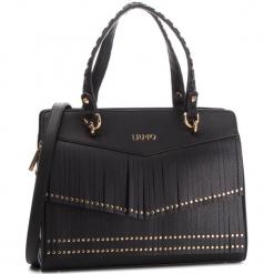 Torebka LIU JO - M Tote Brera N68196 E0031 Nero 22222. Czarne torebki klasyczne damskie marki Liu Jo, z materiału. Za 689,00 zł.