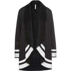 Płaszcz bonprix czarno-biały. Czarne płaszcze damskie bonprix. Za 189,99 zł.