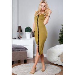 Sukienka midi oliwkowa TA2421. Czarne sukienki marki Fasardi, m, z dresówki. Za 59,00 zł.
