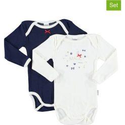 Body niemowlęce: Body (2 szt.) w kolorze białym i granatowym