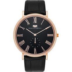 """Biżuteria i zegarki: Zegarek kwarcowy """"Richman"""" w kolorze czarno-różowozłotym"""