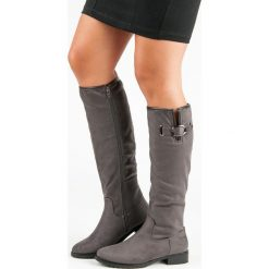 KLASYCZNE ZAMSZOWE KOZAKI. Czarne buty zimowe damskie SUPER ME, z zamszu. Za 99,99 zł.