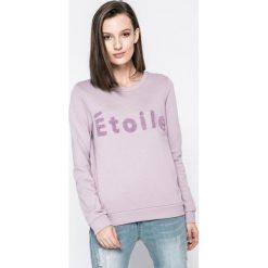 Vero Moda - Bluza. Szare bluzy damskie marki Vero Moda, l, z aplikacjami, z bawełny, bez kaptura. W wyprzedaży za 89,90 zł.