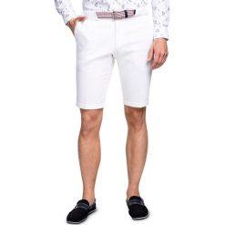 Szorty LEONE SOBS000001. Białe szorty męskie Giacomo Conti, na lato, z bawełny, eleganckie. Za 369,00 zł.