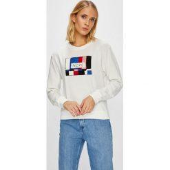 Jacqueline de Yong - Bluza. Szare bluzy damskie marki Jacqueline de Yong, l, z aplikacjami, z bawełny, bez kaptura. Za 89,90 zł.