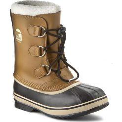 Śniegowce SOREL - Yoot Pac Tp NY1880 Youth 259. Brązowe buty zimowe damskie Sorel, z gumy. W wyprzedaży za 279,00 zł.