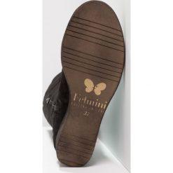 Felmini THITA Kozaki na koturnie zeus black. Czarne buty zimowe damskie Felmini, z materiału, na koturnie. W wyprzedaży za 395,40 zł.