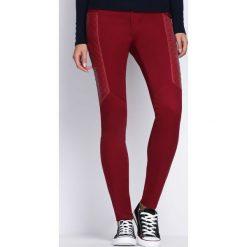 Spodnie damskie: Bordowe Spodnie One More Day