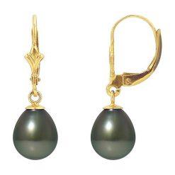 Kolczyki damskie: Złote kolczyki z perłami