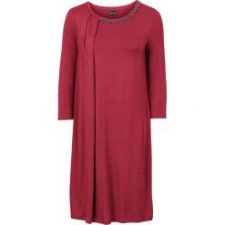 Sukienki: Sukienka z plisą bonprix czerwono-brązowy
