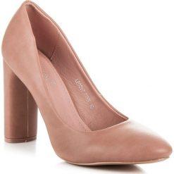 ADA klasyczne czółenka na słupku różowe. Czerwone buty ślubne damskie SEASTAR, na słupku. Za 99,99 zł.