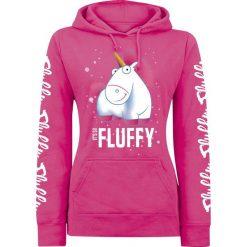 Minions Unicorn - It's So Fluffy Bubbles! Bluza z kapturem damska różowy. Czerwone bluzy z kapturem damskie Minions, s, z motywem z bajki. Za 164,90 zł.