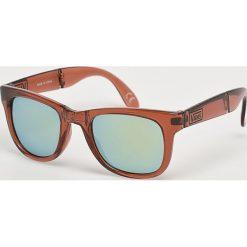 Vans - Okulary. Brązowe okulary przeciwsłoneczne męskie lustrzane marki Vans, z materiału, prostokątne. Za 69,90 zł.