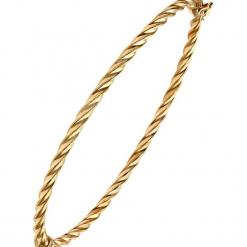 Złota bransoletka. Żółte bransoletki damskie REVONI, złote. W wyprzedaży za 517,95 zł.