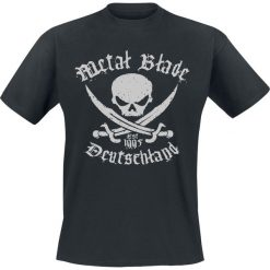 Metal Blade Pirate Deutschland T-Shirt czarny. Czarne t-shirty męskie z nadrukiem Metal Blade, xl, z okrągłym kołnierzem. Za 89,90 zł.