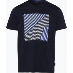Calvin Klein - T-shirt męski, niebieski. Pomarańczowe t-shirty męskie marki Calvin Klein, l, z bawełny, z okrągłym kołnierzem. Za 229,95 zł.