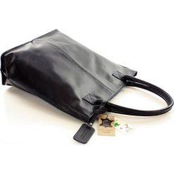 Shopper bag damskie: DESTINY Torebka włoska shopper granatowa
