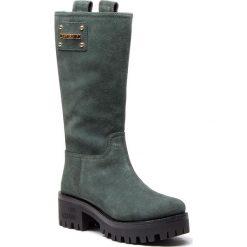Kozaki LOVE MOSCHINO - JA24206H06JF0851 Petrolio. Czarne buty zimowe damskie marki Superfit, z gore-texu, przed kolano, na wysokim obcasie. Za 1349,00 zł.