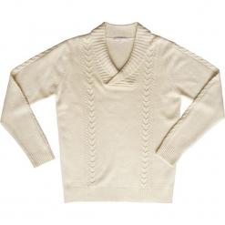 Sweter kaszmirowy w kolorze kremowym. Białe swetry klasyczne męskie Ateliers de la Maille, m, z kaszmiru. W wyprzedaży za 591,95 zł.