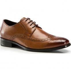 Buty męskie 84-M-800-5. Brązowe buty wizytowe męskie Wittchen, z syntetyku. Za 229,00 zł.