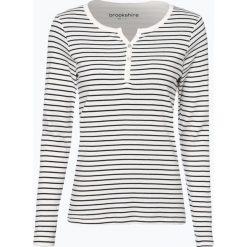 Brookshire - Damska koszulka z długim rękawem, beżowy. Zielone t-shirty damskie marki bonprix, z kołnierzem typu henley. Za 99,95 zł.