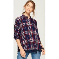 Koszula z frędzlami - Niebieski. Niebieskie koszule damskie Sinsay, l. W wyprzedaży za 29,99 zł.