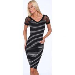 Sukienka z siateczką czarna 5252. Czarne sukienki Fasardi, l. Za 62,00 zł.