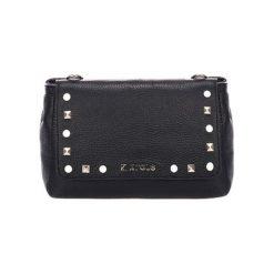 Torebki klasyczne damskie: Skórzana torebka w kolorze czarnym – (S)23 x (W)15 x (G)8 cm