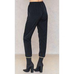 Spodnie z wysokim stanem: Love&Divine Spodnie Love 116 – Black,Multicolor
