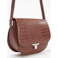 Torebka z teksturą krokodyla - Pomarańczo. Brązowe torebki klasyczne damskie Reserved. Za 119,99 zł.