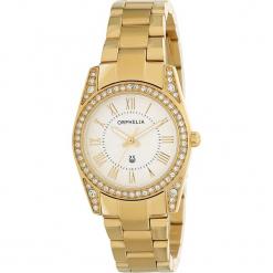 Zegarek kwarcowy w kolorze biało-złotym. Żółte, analogowe zegarki damskie Esprit Watches, ze stali. W wyprzedaży za 272,95 zł.
