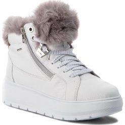 Sneakersy GEOX - D Kaula B Abx D D84AWD 046BH C0672 White/Dk Grey. Szare sneakersy damskie marki Geox, z gumy. W wyprzedaży za 439,00 zł.