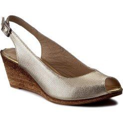 Rzymianki damskie: Sandały LANQIER – 40C410 Złoty