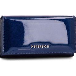 Duży Portfel Damski PETERSON - 466-14-13-07 Dark Blue. Niebieskie portfele damskie Peterson, z lakierowanej skóry. Za 139,00 zł.