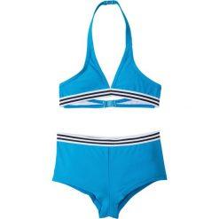 Stroje dwuczęściowe dziewczęce: Bikini dziewczęce (2 części) bonprix niebieski