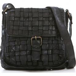 Skórzana torebka w kolorze czarnym - 28 x 26 x 7 cm. Czarne torebki klasyczne damskie neropantera, w paski, z materiału. W wyprzedaży za 341,95 zł.