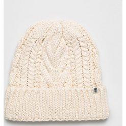 The North Face - Czapka. Szare czapki zimowe damskie marki The North Face, na zimę, z dzianiny. Za 129,90 zł.