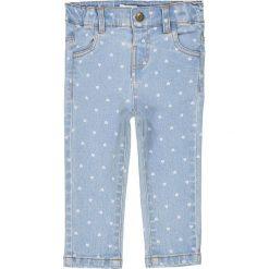 Dżinsy slim z nadrukiem w serca 1 miesiąc - 3 lata. Niebieskie jeansy dziewczęce La Redoute Collections, z nadrukiem, z bawełny, z standardowym stanem. Za 64,64 zł.