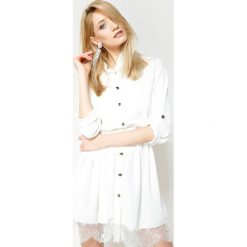 Sukienki hiszpanki: Biała Sukienka Come Joining