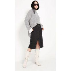 Spódniczki jeansowe: Spódnica - 70-3114 NERO