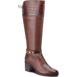 Kozaki GEOX - D Glynna C D843CC 0436Y C0013 Brown. Czarne buty zimowe damskie marki Kazar, ze skóry, przed kolano, na wysokim obcasie, na obcasie. Za 839,00 zł.