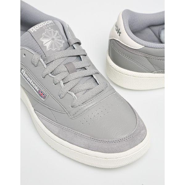Wyprzedaż szare buty Reebok Classic, na sznurówki
