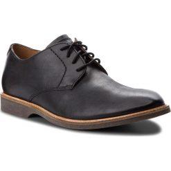 Półbuty CLARKS - Atticus Lace 261361557 Black Leather. Czarne derby męskie Clarks, z materiału. Za 459,00 zł.