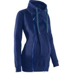 Bluza ciążowa rozpinana, z wstawką niemowlęcą na nosidełko bonprix kobaltowy. Niebieskie bluzy niemowlęce marki bonprix. Za 149,99 zł.