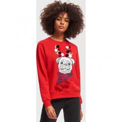 Bluza ze świątecznym motywem - Czerwony. Czerwone bluzy damskie Reserved, l. Za 79,99 zł.