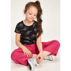 T-shirty chłopięce z nadrukiem: T-shirt z kontrastowym nadrukiem – Czarny