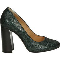 Czółenka - 1270 406 VERD. Szare buty ślubne damskie Venezia, ze skóry. Za 179,00 zł.