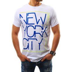T-shirty męskie z nadrukiem: T-shirt męski z nadrukiem biały (rx2270)